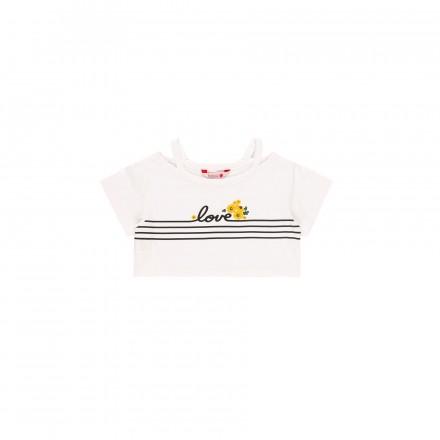 Camiseta manga corta punto elástico de niña BOBOLI modelo 409148