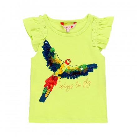 Camiseta manga corta punto flamé de niña BOBOLI modelo 439118
