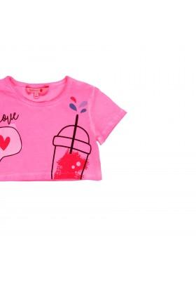 Camiseta manga corta punto elástico de niña BOBOLI modelo 429072
