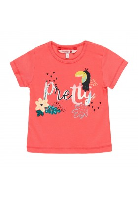 Camiseta manga corta punto liso de bebé niña BOBOLI modelo 219024