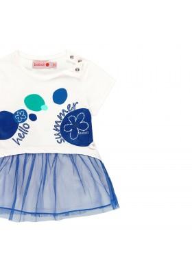 Vestido punto combinado de bebé niña BOBOLI modelo 249151