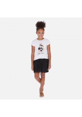 Vestido combinado de MAYORAL para niña modelo 6986