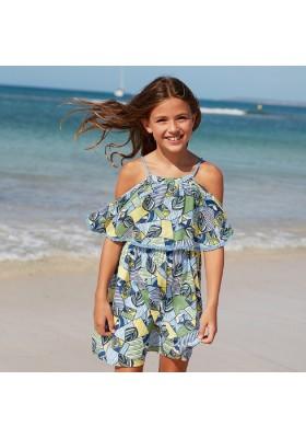 Vestido viscosa estampado de MAYORAL para niña modelo 6978