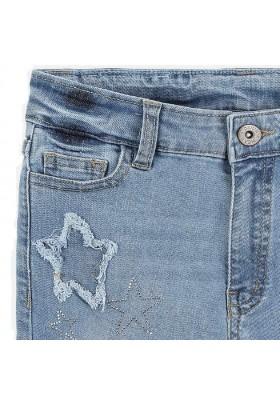 Pantalón corto tejano tiro alto de MAYORAL para niña modelo 6253