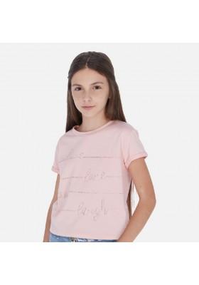 Camiseta manga corta crop de MAYORAL para niña modelo 6019