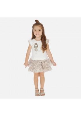 Vestido combinado gasa de MAYORAL para niña modelo 3945