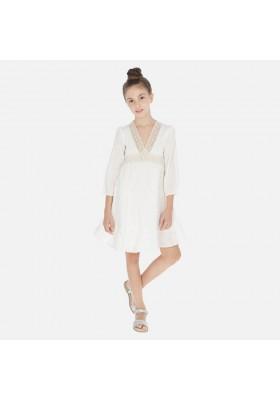 Vestido rayas lurex de MAYORAL para niña modelo 6971
