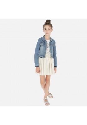 Falda lino laminada de MAYORAL para niña modelo 6949