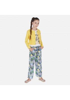 Pantalón largo viscosa estampado de MAYORAL para niña modelo 6535