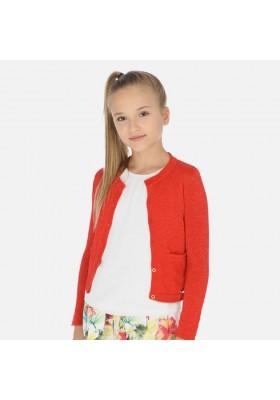 Rebeca tricot algodon lurex de MAYORAL para niña modelo 6314