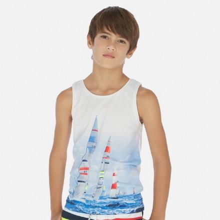 Set 2 camisetas manga corta y tirante de MAYORAL para niño modelo 6072