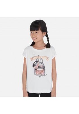 Camiseta manga corta mochila de MAYORAL para niña modelo 6023