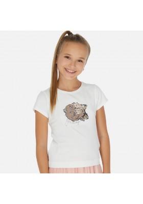Camiseta manga corta lentejuelas de MAYORAL para niña modelo 6022