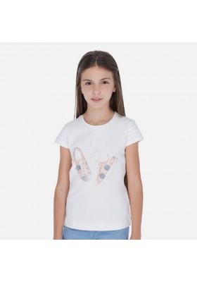 Camiseta manga corta zapatillas de MAYORAL para niña modelo 6016