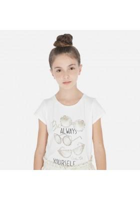 Camiseta manga corta gafas de MAYORAL para niña modelo 6012