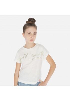 Camiseta manga corta laminado de MAYORAL para niña modelo 6010