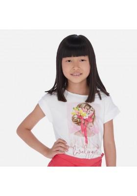 Camiseta manga corta grafica de MAYORAL para niña modelo 6002