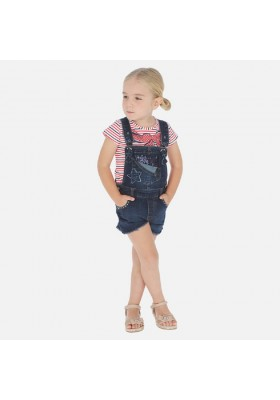 Peto corto tejano fantasia de MAYORAL para niña modelo 3632