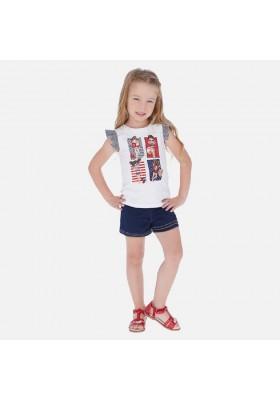 Conjunto short knit denim de MAYORAL para niña modelo 3289