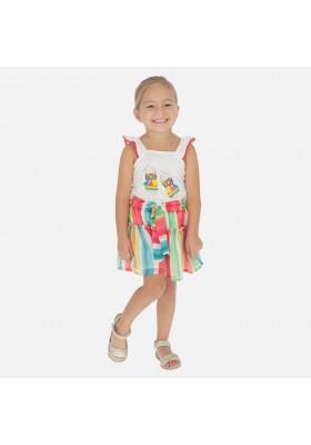 Pantalon corto bambula rayas de MAYORAL para niña modelo 3281