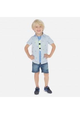 Bermuda denim bordada de MAYORAL para niño modelo 3265