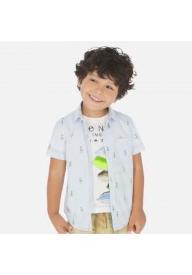 Camisa manga corta estampada de MAYORAL para niño modelo 3166