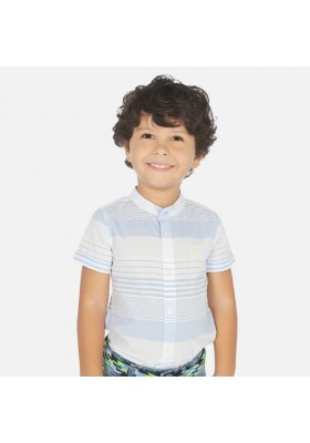 Camisa manga corta cuello mao rayas de MAYORAL para niño modelo 3162