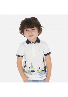 Polo manga corta print posicionado de MAYORAL para niño modelo 3149