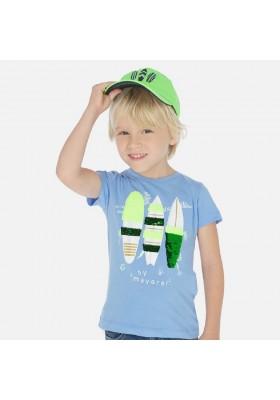 Camiseta manga corta lentejuelas de MAYORAL para niño modelo 3066