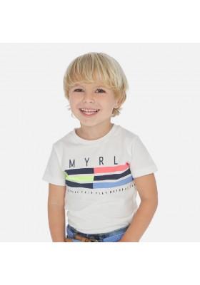 Camiseta manga corta banda de MAYORAL para niño modelo 3053