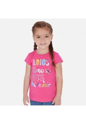 Camiseta manga corta serigrafia de MAYORAL para niña modelo 3018