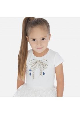 Camiseta manga corta lazo de MAYORAL para niña modelo 3007