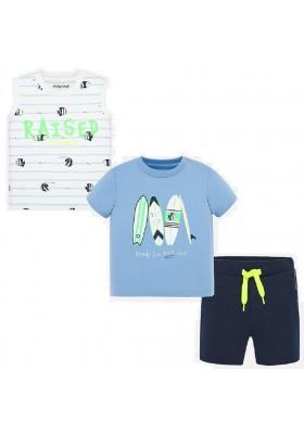 Conjunto bermuda 2 camisetas de MAYORAL para bebe niño modelo 1691