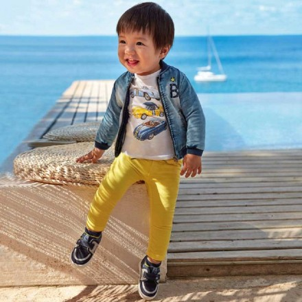 Pantalón sarga cintura patente de MAYORAL para bebe niño modelo 1547