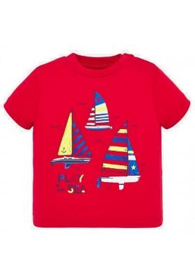 Camiseta manga corta regata de MAYORAL para bebe niño modelo 1045